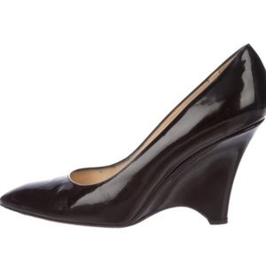 KATE SPADE NEW YORK Patent Leather Wedges Sz 8.5